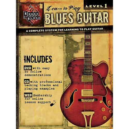 House of Blues Learn to Play Blues Guitar  Level 1 Book/CD/DVD-thumbnail