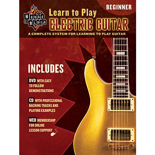 House of Blues Learn to Play Electric Guitar Beginner Book/CD/DVD