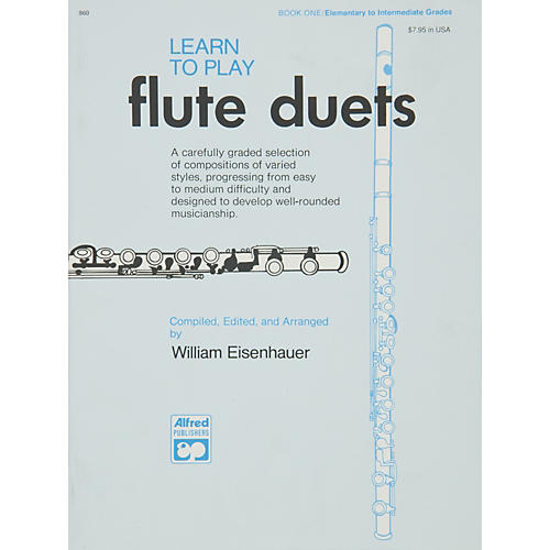Alfred Learn to Play Flute Duets Book