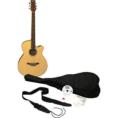 eMedia Learn to Play Guitar Acoustic Guitar Pack Natural