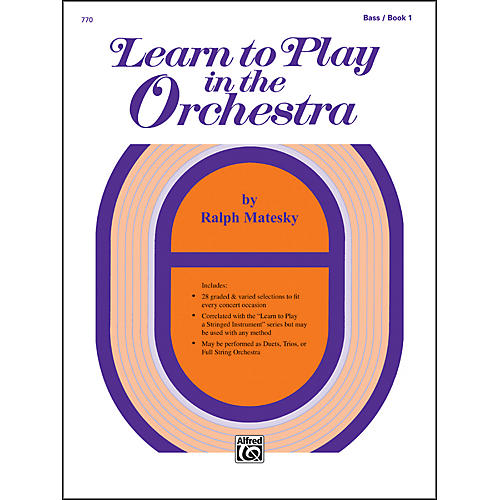 Alfred Learn to Play in the Orchestra Book 1 Bass-thumbnail