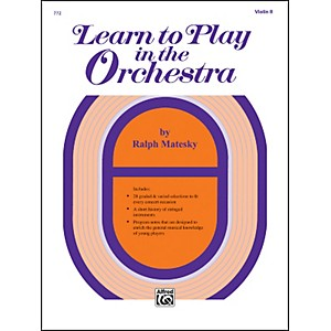 Alfred Learn to Play in the Orchestra Book 1 Violin II by Alfred