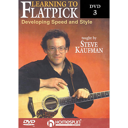 Homespun Learning to Flatpick DVD 3 - Developing Speed and Style (DVD)-thumbnail