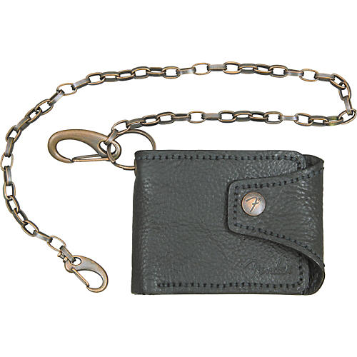 Fender Leather Chain Wallet with F Snap