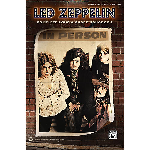 Alfred Led Zeppelin - Complete Lyric & Chord Songbook-thumbnail
