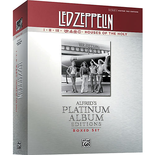 Alfred Led Zeppelin Box Set I-V Guitar Tab Platinum Edition Books-thumbnail