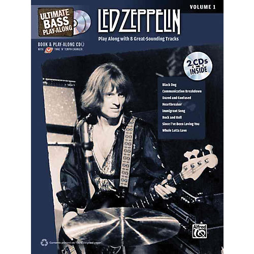 Alfred Led Zeppelin Ultimate Play Along Bass Volume 1 with 2 CD's