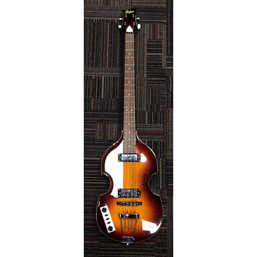 Hofner Left Handed Ignition Electric Bass Guitar-thumbnail