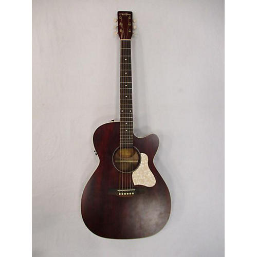 Art & Lutherie Legacy Tennessee Red CW QIT Acoustic Electric Guitar
