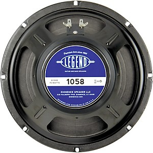 Click here to buy Eminence Legend 1058 10 in Guitar Speaker by Eminence.