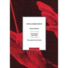 Chester Music Leinolaulut (Leino Songs) (Soprano and Orchestra) Music Sales America Series Composed by Kaija Saariaho
