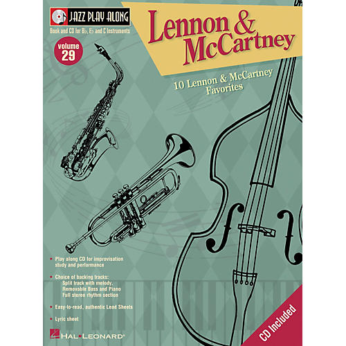Hal Leonard Lennon And McCartney - Jazz Play Along Volume 29 Book with CD
