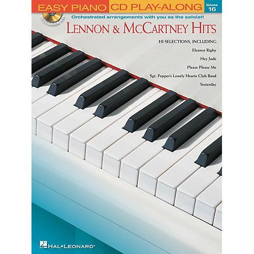 Hal Leonard Lennon & McCartney Hits - Easy Piano CD Play-Along Volume 16 Book/CD