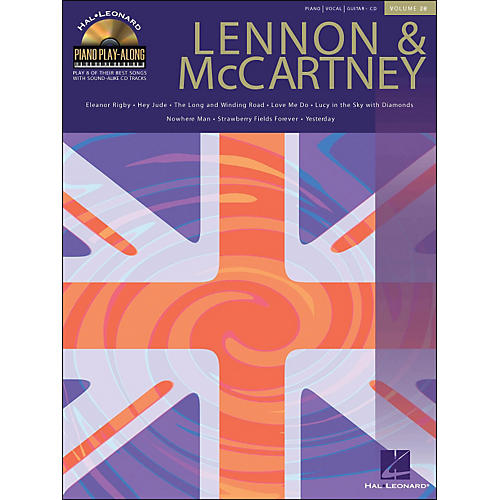 Hal Leonard Lennon & McCartney Piano Play-Along Volume 28 Book/CD arranged for piano, vocal, and guitar (P/V/G)-thumbnail
