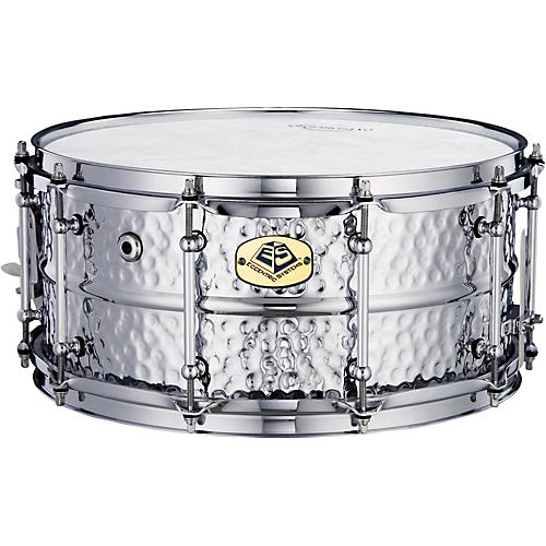 Eccentric Systems Design Leopard Black Nicky Steel Snare Drum