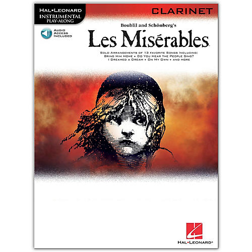 Hal Leonard Les Miserables for Clarinet -Instrumental Play-Along Book/Online Audio