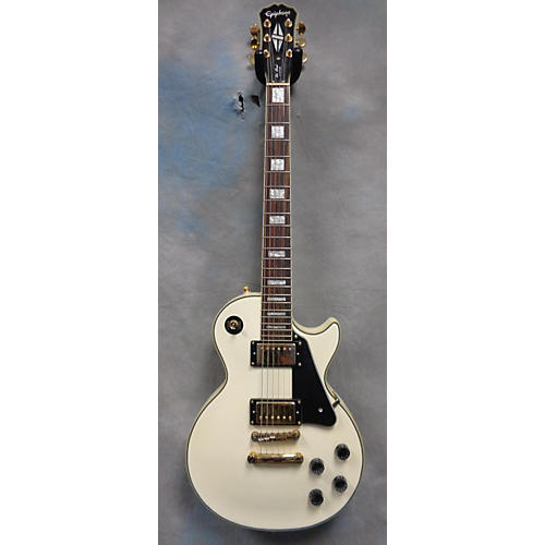 Epiphone Les Paul Custom Antique White Solid Body Electric Guitar-thumbnail