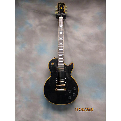Epiphone Les Paul Custom Classic Solid Body Electric Guitar Black and Gold