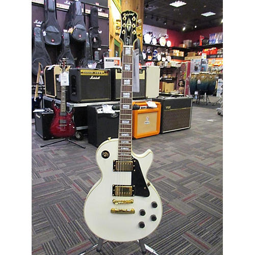 Epiphone Les Paul Custom Solid Body Electric Guitar Alpine White
