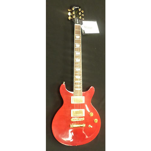 Gibson Les Paul Double Cut Crimson Red Trans Solid Body Electric Guitar-thumbnail