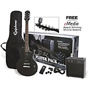 Les Paul Electric Guitar Player Pack Ebony