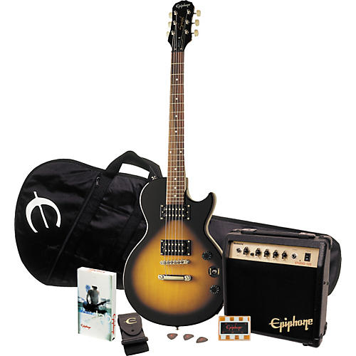 epiphone les paul special ii player pack vintage sunburst guitar center. Black Bedroom Furniture Sets. Home Design Ideas