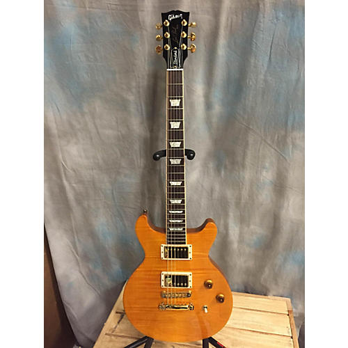Gibson Les Paul Standard Plus Double Cut Antique Amber Solid Body Electric Guitar-thumbnail