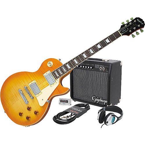 Epiphone Les Paul Standard Plus Top and All Access Amp Pack