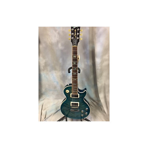 Gibson Les Paul Standard Premium Plus Quilt Solid Body Electric Guitar OCEAN WATER PERIMETER