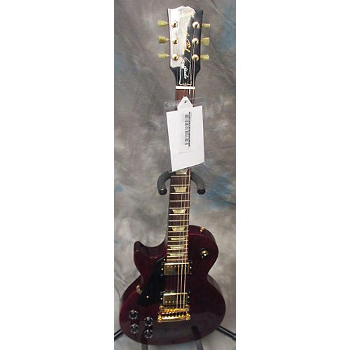Gibson Les Paul Studio Left Handed Wine Red Electric Guitar-thumbnail