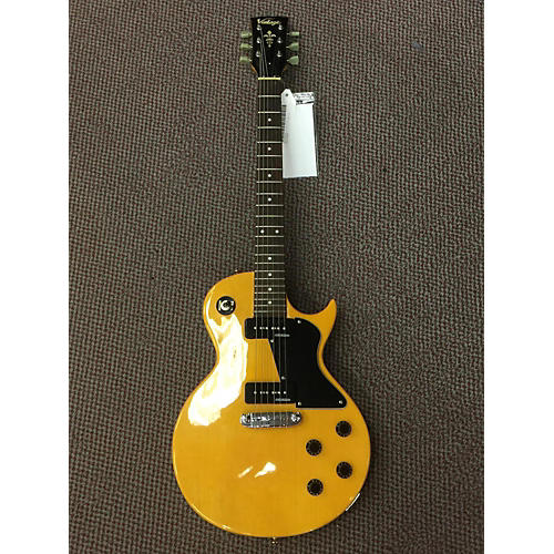 Vintage Les Paul Type Solid Yellow Solid Body Electric Guitar
