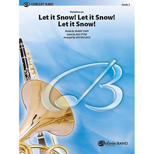 Alfred Let It Snow! Let It Snow! Let It Snow!, Variations on Concert Band Grade 3 Set