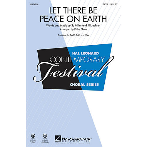 Hal Leonard Let There Be Peace on Earth SATB arranged by Kirby Shaw