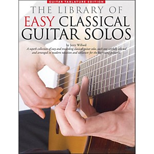 Music Sales Library Of Easy Classical Guitar Solos Notation and Tablature