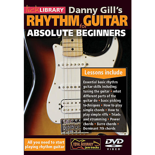 Hal Leonard Lick Library Danny Gill's Rhythm Guitar For Absolute Beginners DVD-thumbnail
