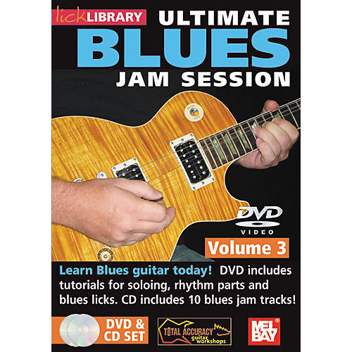 Mel Bay Lick Library Ultimate Blues Jam Session Volume 3 DVD and CD Set-thumbnail
