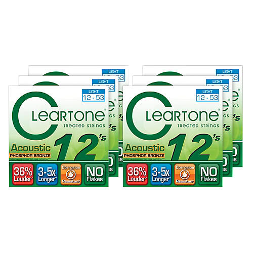 Cleartone Light Acoustic Guitar Strings 6 Pack-thumbnail