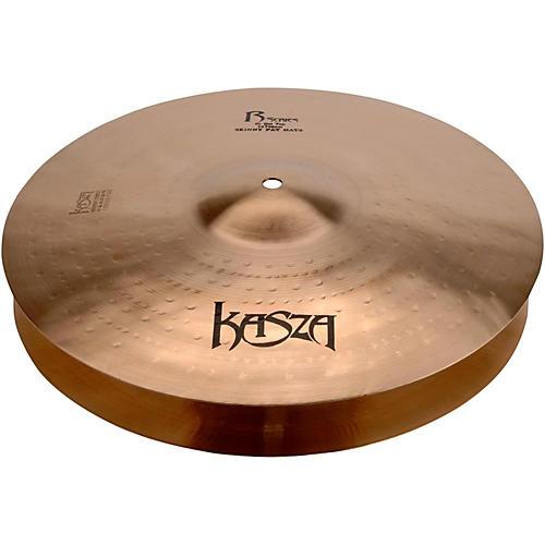 Kasza Cymbals Light Top/Heavy Flat Bottom Skinny Fat Rock Hi-hats 14 in.-thumbnail
