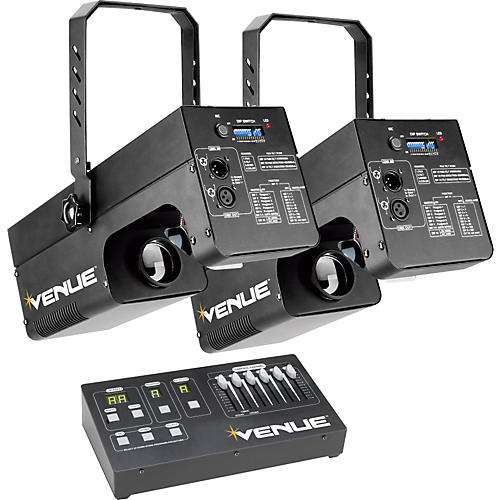Venue Lighting Effects Dual Scanner Pack 250W