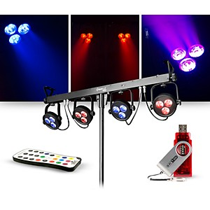 CHAUVET DJ Lighting Package with 4BAR LT USB RGB LED Effect Light, D-Fi USB...
