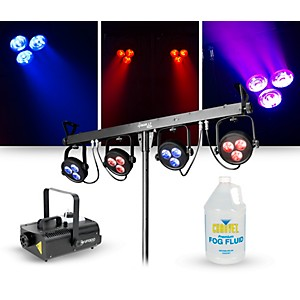 CHAUVET DJ Lighting Package with 4BAR LT USB RGB LED Effect and ADJ VF1300 ...
