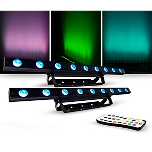 CHAUVET DJ Lighting Package with COLORband LED Effect Light and IR-6 Contro...