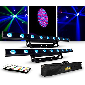 CHAUVET DJ Lighting Package with Two COLORband LED Effect Lights, IRC-6 and...