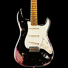 Limited Edition 1957 Heavy Relic Stratocaster Electric Guitar, Maple Black over Pink Paisley