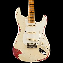 Limited Edition 1957 Heavy Relic Stratocaster Electric Guitar, Maple Olympic White over Pink Paisley