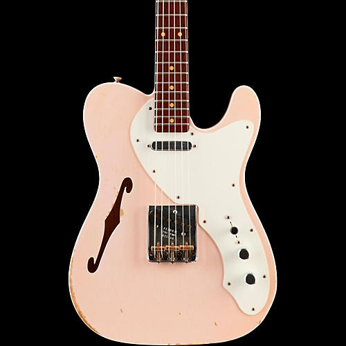 Fender Custom Shop Limited Edition '50s Thinline Relic Telecaster Rosewood Fingerboard  - Faded Shell Pink