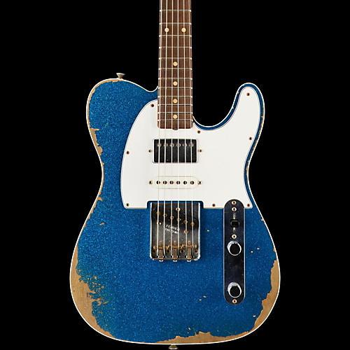 Fender Custom Shop Limited Edition '60s Heavy Relic Nashville Telecaster Custom HSS Electric Guitar, Rosewood Blue Sparkle-thumbnail