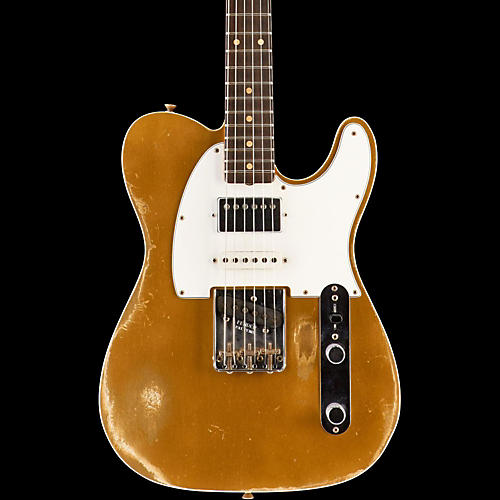 Fender Custom Shop Limited Edition '60s Heavy Relic Nashville Telecaster Custom HSS Electric Guitar, Rosewood Faded Aztec Gold