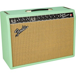 Click here to buy Fender Limited Edition '65 Deluxe Reverb Surf Green 22W 1x12 Tube Guitar Co... by Fender.