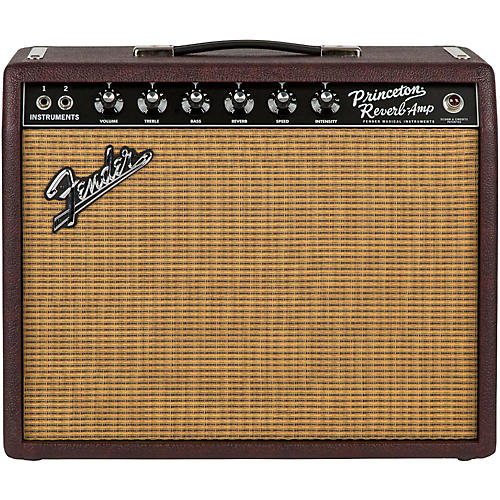 Fender Limited Edition '65 Princeton Reverb 15W 1x12 Tube Guitar Combo Amp Bordeaux Reserve-thumbnail